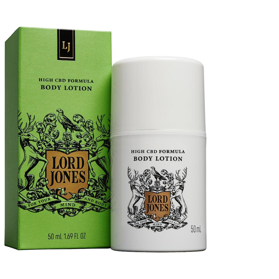"<h3>Lord Jones High CBD Formula Body Lotion</h3><br>Add a dose of self-care to your routine with this luxurious CBD-infused body lotion from Lord Jones, which we love for its soothing, hydrating benefits.<br><br><strong>Lord Jones</strong> High CBD Formula Body Lotion, $, available at <a href=""https://go.skimresources.com/?id=30283X879131&url=https%3A%2F%2Fwww.sephora.com%2Fproduct%2Fhigh-cbd-formula-body-lotion-P438374%23donotlink"" rel=""nofollow noopener"" target=""_blank"" data-ylk=""slk:Sephora"" class=""link rapid-noclick-resp"">Sephora</a>"