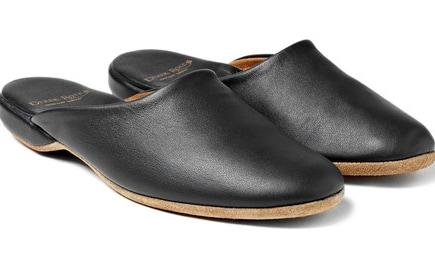 Leather Derek Rose slipper