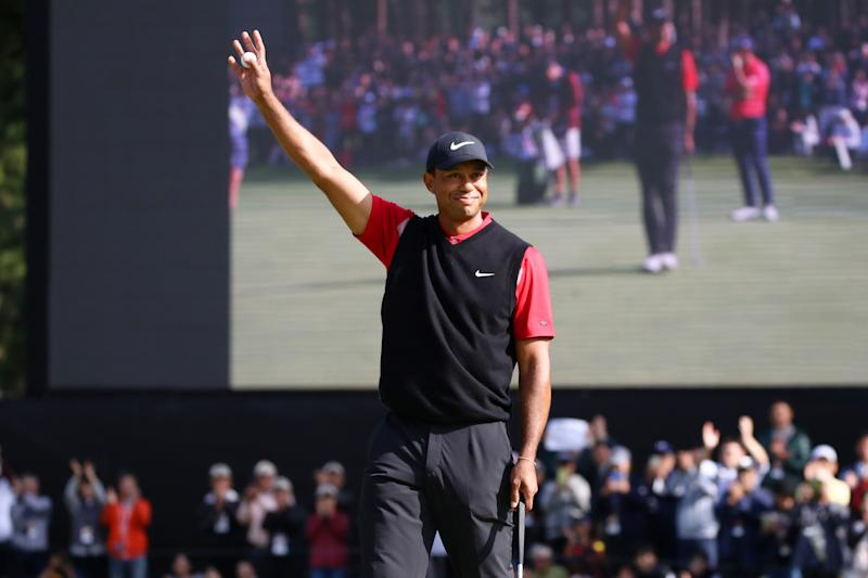 Using one of his captain's picks on himself, Tiger Woods will officially play in the Presidents Cup next month in Australia.