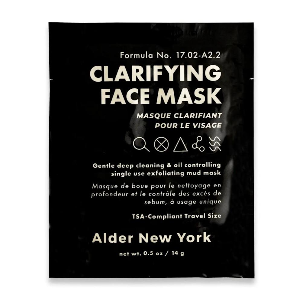 """Detox your pores in just five minutes with this mask that'll absorb gross gunk and help regulate oil production for a glowy, nongreasy complexion.<br /><br /><a href=""""https://aldernewyork.com/"""" target=""""_blank"""" rel=""""noopener noreferrer"""">Alder New York</a> is a queer-owned and woman-owned gender-neutral skin care brand that makes easy-to-use vegan products for everyone.<br /><br /><strong>Promising review:</strong>""""I have tried around 30 or so clarifying masks over the years and<strong>hands down this is my favorite</strong>. The texture is smooth, easy to apply, and has a lovely cooling effect.<strong>It left my skin clearer yet still supple without drying it out.</strong>Most importantly, it<strong>did not affect my rosacea</strong>, which was a big win in my book."""" —<a href=""""https://go.skimresources.com?id=38395X987171&xs=1&url=https%3A%2F%2Faldernewyork.com%2Fcollections%2Fskincare%2Fproducts%2Fclarifying-face-mask&xcust=HPBasicBeauty607dad6fe4b0bc5a3a5a7609"""" target=""""_blank"""" rel=""""nofollow noopener noreferrer"""" data-skimlinks-tracking=""""5909265