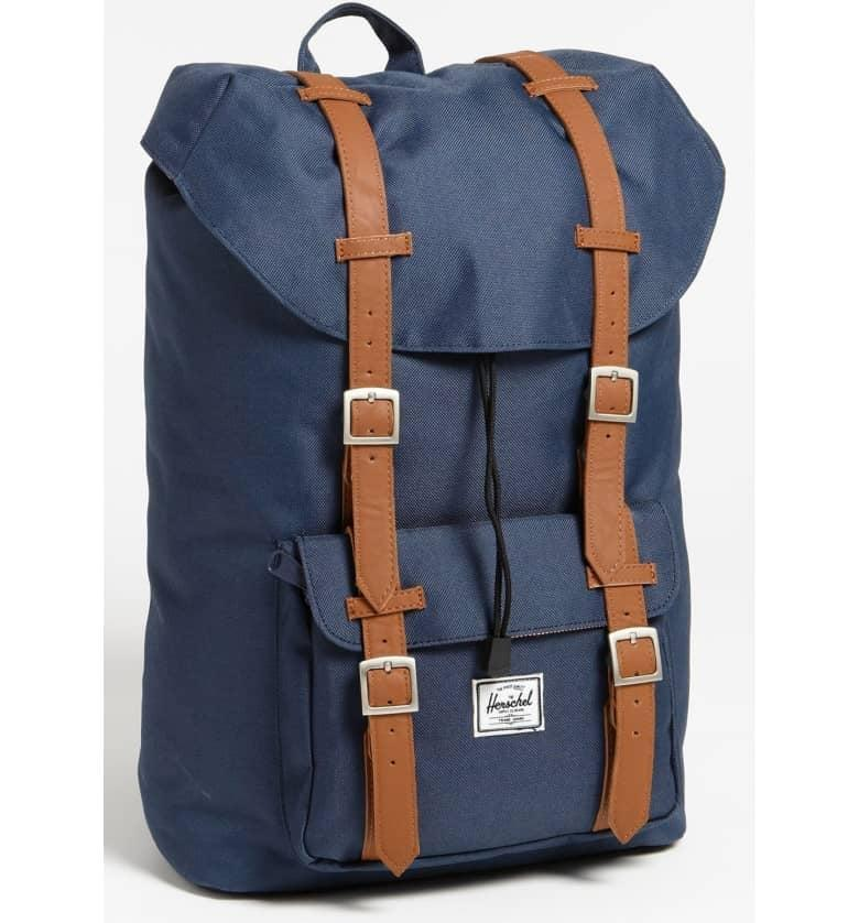 <p>He can use this <span>Herschel Supply Co. Little America Mid Volume Backpack</span> ($100) every day. </p>