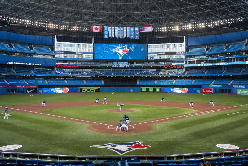 The Blue Jays might not play in Toronto this season. (Photo by Mark Blinch/Getty Images)