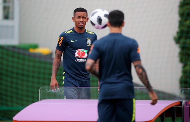 Soccer Football - World Cup - Brazil Training - Brazil Training Camp, Sochi, Russia - June 23, 2018 Brazil's Gabriel Jesus during training REUTERS/Hannah Mckay