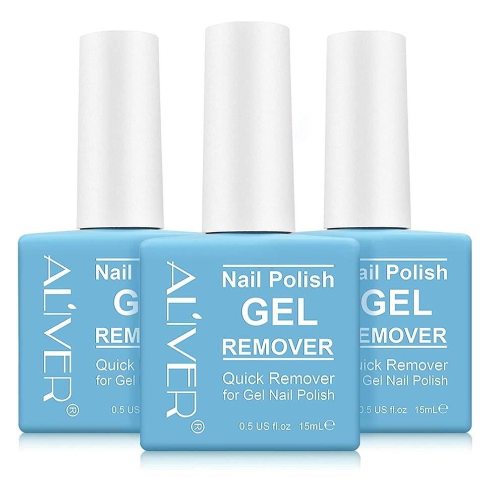 <p>Soak your nails in the <span>Aliver Magic Gel Nail Polish Remover - 3-Pack</span> ($8, originally $11) for three minutes to get rid of that stubborn gel nail polish. </p>