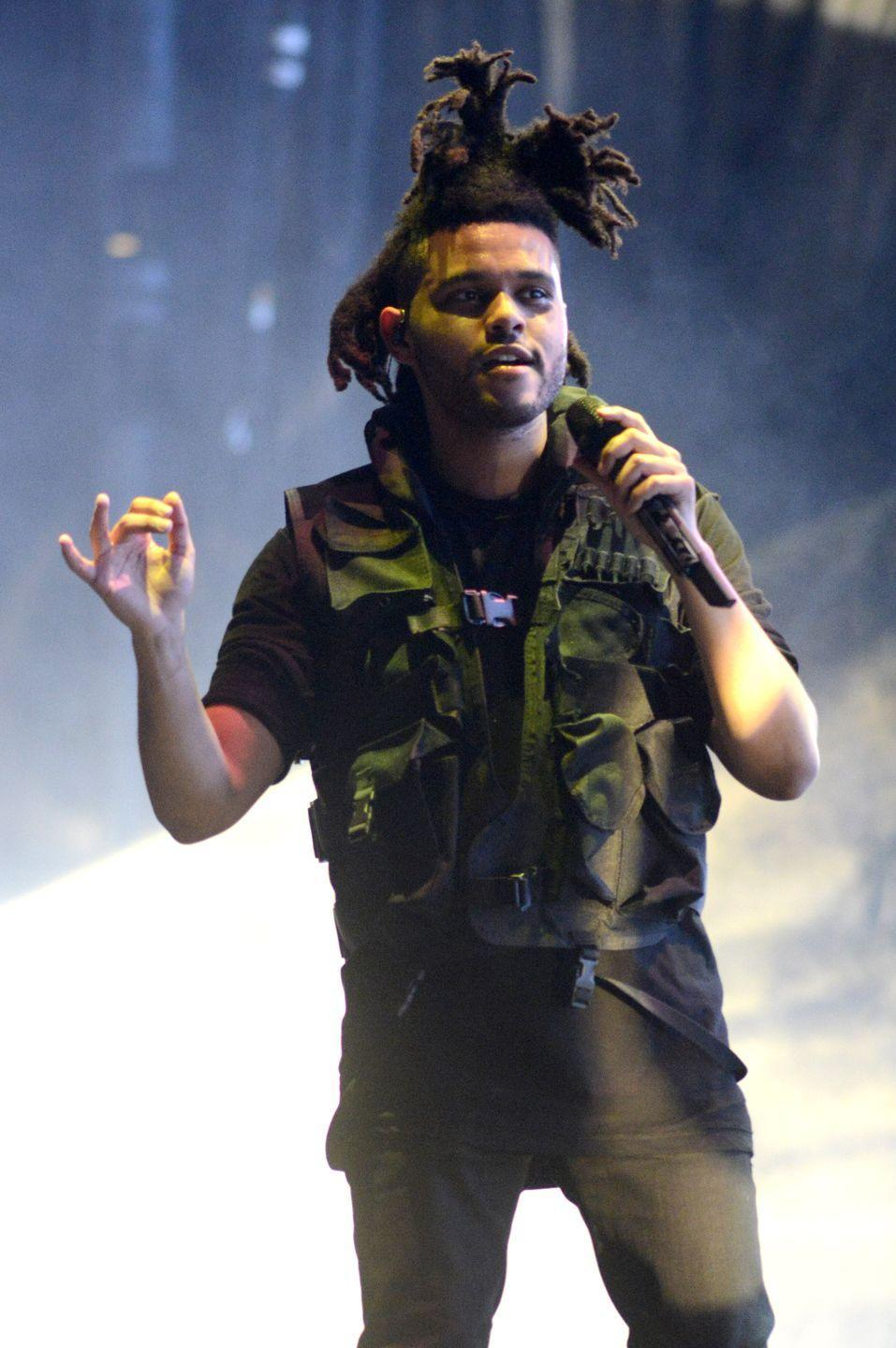 <p>In 2014, the rapper debuted his choppiest and longest look yet, with locs hanging out from the side. </p>