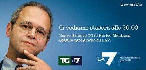 Tg La7, Enrico Mentana (Photo: La7)