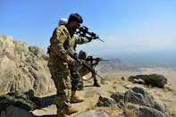 Afghan resistance forces in the Panjshir valley are holding out against the Taliban (AFP/Ahmad SAHEL ARMAN)