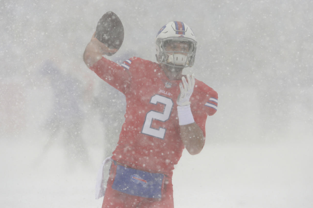 Buffalo Bills And Indianapolis Colts Play In Snowstorm