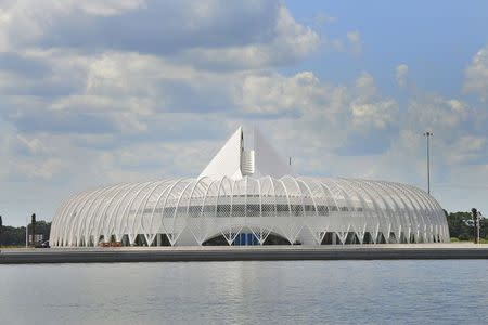 The exterior of Florida Polytechnic University's Innovation, Science and Technology building (IST) is pictured in Lakeland, Florida in this undated handout photo provided by Florida Polytechnic University and obtained by Reuters August 22, 2014. REUTERS/Florida Polytechnic University/Handout via Reuters