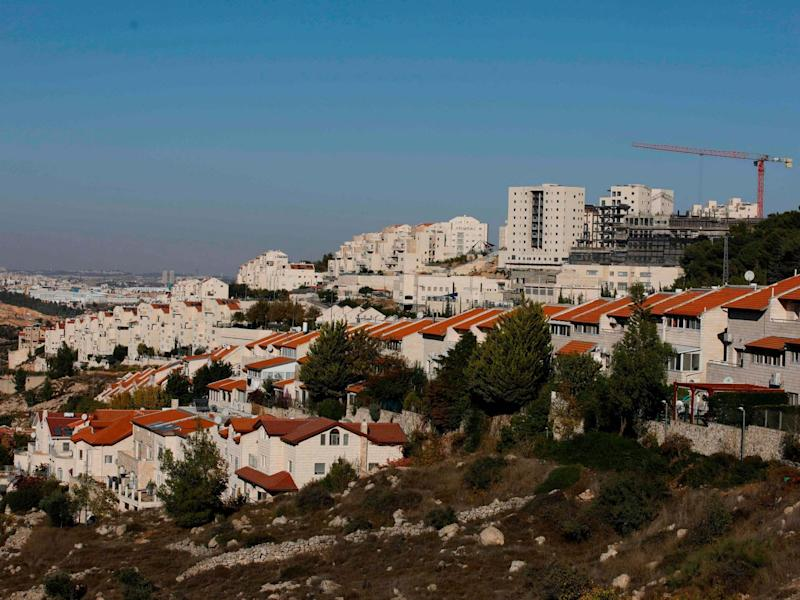 A general view of the Israeli settlement of Efrat near the Palestinian city of Bethlehem south of Jerusalem, in the occupied West Bank: MENAHEM KAHANA/AFP via Getty Images