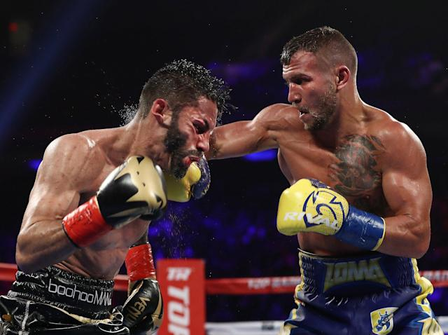 <span>Top Rank boxing on ESPN featuring </span>Vasyl Lomachenko knocking out Jorge Linares on May 12  <span>peaked at 1.749 million viewers during the</span> <span> fight. (Getty)</span>