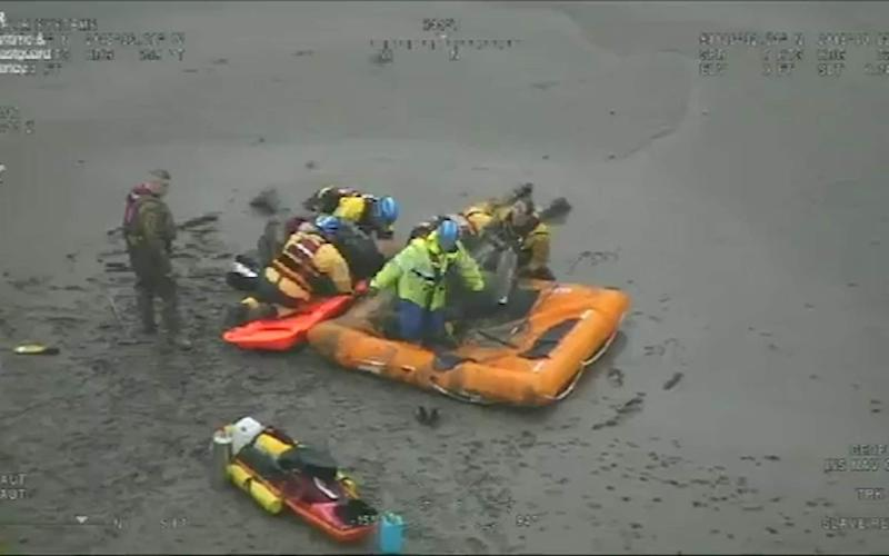 Holyhead Coastguard coordinated the rescue and sent three local teams and the helicopter to the scene