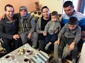 Storey and husband and fellow Paralympian Adam Hall, along with her biological family in Bulgaria
