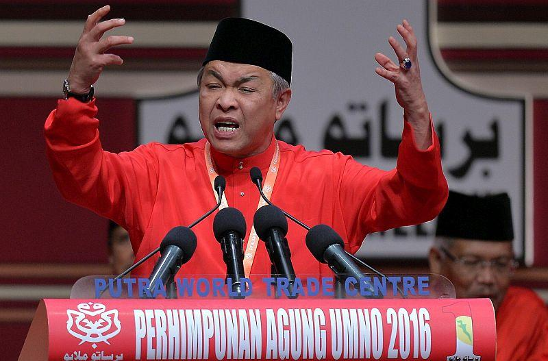 Deputy Prime Minister Datuk Seri Ahmad Zahid Hamidi giving his winding-up speech at the Putra World Trade Centre, December 3, 2016. ― Bernama pic