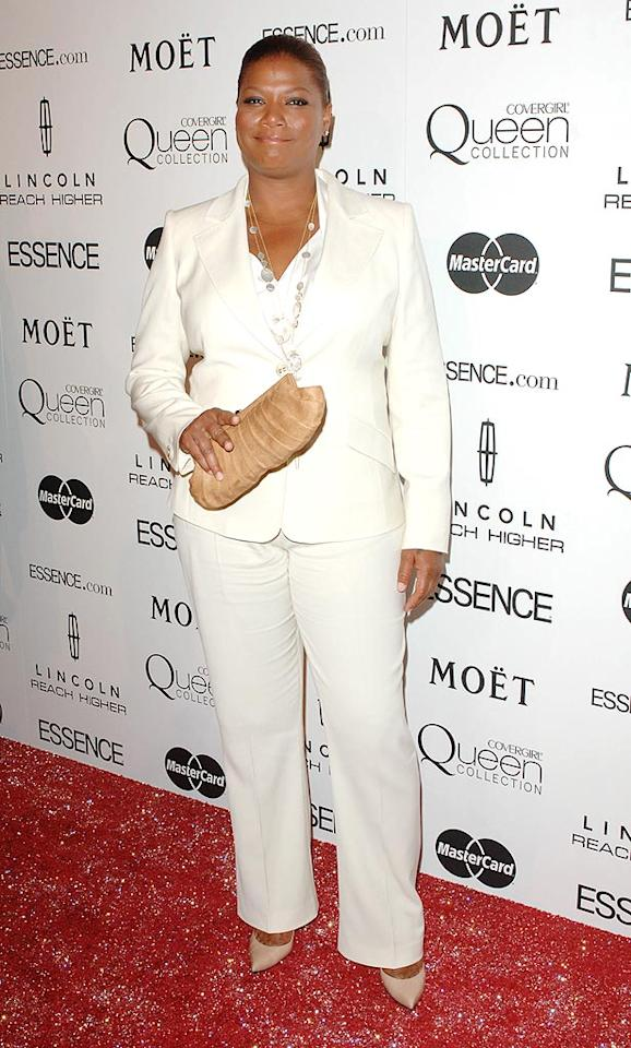 "When Jada understandably broke down in tears on stage, Latifah -- in one of her snazzy signature pantsuits -- did her best to console her. A grateful Pinkett Smith said, ""I don't get to see her a lot, but she's my girl!"" Craig Barrett/<a href=""http://www.wireimage.com"" target=""new"">WireImage.com</a> - March 4, 2010"