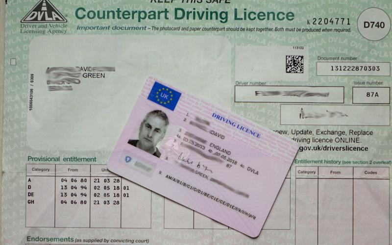 UK driving licence - Credit: Alamy