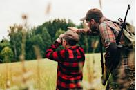 """<p>Now to decide what to get dear old dad. The hunt for the perfect gift for him can be quite a challenge and may be time-consuming, too. Especially when he claims to want nothing and never knows <a href=""""https://www.countryliving.com/shopping/gifts/g33522657/what-to-ask-for-this-christmas/"""" rel=""""nofollow noopener"""" target=""""_blank"""" data-ylk=""""slk:what to ask for this Christmas"""" class=""""link rapid-noclick-resp"""">what to ask for this Christmas</a>. It's always a safe bet to stick within the gift receiver's hobby. Dads can never have too much hunting gear, trust us. If your dad is a hunting enthusiast, chances are you've given him a gift card to Cabela's for years on end. Why not try something a little different this Christmas? He'll appreciate that you took the time to research his hobby. Pair a hunting-themed gift with just the right <a href=""""https://www.countryliving.com/food-drinks/g4768/christmas-ham-recipes/"""" rel=""""nofollow noopener"""" target=""""_blank"""" data-ylk=""""slk:Christmas ham recipe"""" class=""""link rapid-noclick-resp"""">Christmas ham recipe</a> and delicious <a href=""""https://www.countryliving.com/food-drinks/g2768/christmas-cocktails/"""" rel=""""nofollow noopener"""" target=""""_blank"""" data-ylk=""""slk:Christmas cocktails"""" class=""""link rapid-noclick-resp"""">Christmas cocktails</a>, and he'll feel like a million bucks (no pun intended) all day long. We've rounded up 30 of the best gifts for your always-on-the-hunt loving dad. If you have the kind of dad who is eternally looking forward to the next opening day, we're sure that these gifts will get his blood pumping. So ready, aim, fire—every single one of these gifts will hit the mark with all the great outdoorsmen in your family. </p>"""