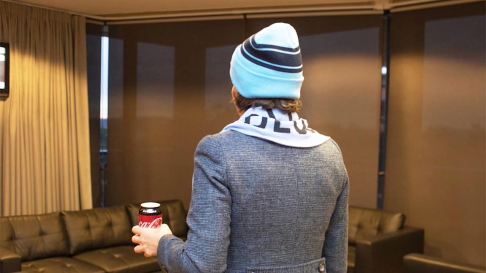Gladys Berejiklian (pictured) posted to social media ahead of State of Origin.