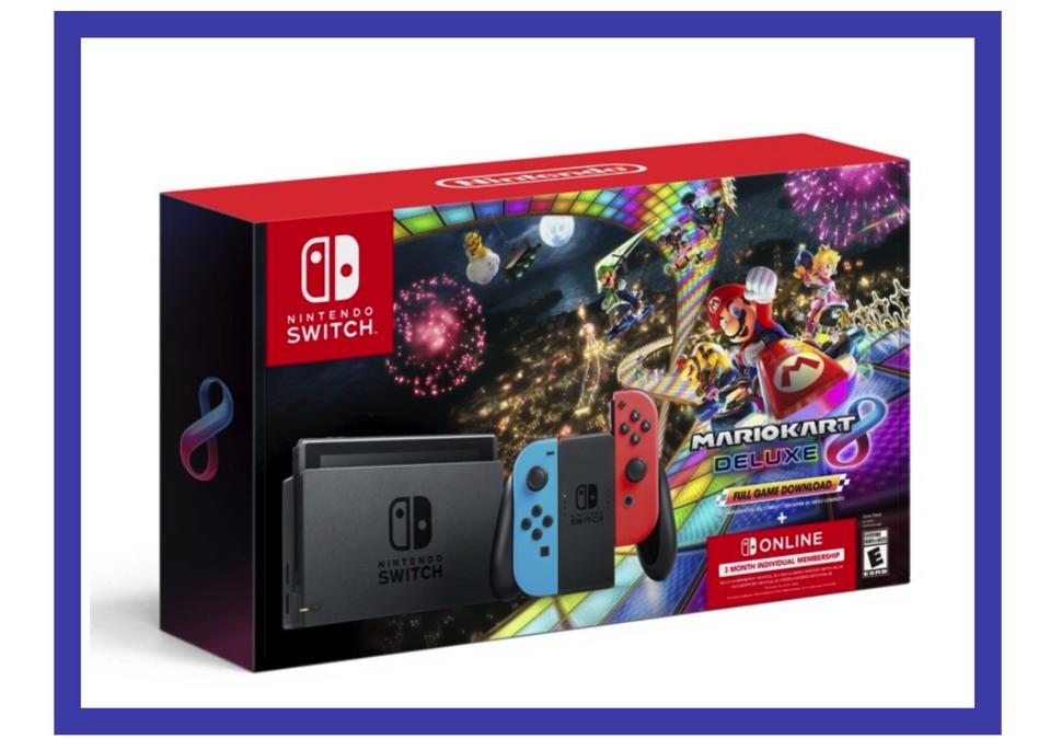 In this bundle, you get the Nintendo Switch with a Mario Kart game. (Photo: Walmart)