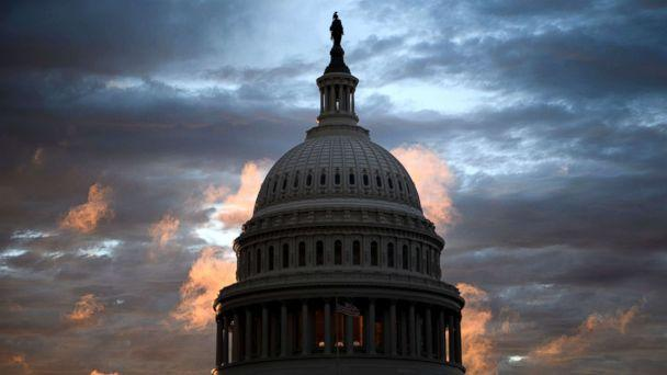 PHOTO: A view of Capitol Hill, while voters across the United States participate in midterm elections, Nov. 6, 2018, in Washington. (Brendan Smialowski/AFP/Getty Images)