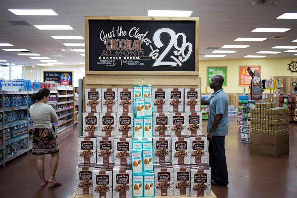 "<p>Don't be surprised if you can't find an item. Since Trader Joe's carries fewer products than most grocery stores, employees are <a href=""https://www.thedailymeal.com/eat/10-things-you-didnt-know-about-trader-joes-products-0/slide-9"" rel=""nofollow noopener"" target=""_blank"" data-ylk=""slk:quick to cut something if it doesn't sell"" class=""link rapid-noclick-resp"">quick to cut something if it doesn't sell</a>. That being said, <a href=""https://www.thedailymeal.com/eat/best-and-worst-products-trader-joe-s-volume"" rel=""nofollow noopener"" target=""_blank"" data-ylk=""slk:new products are launched"" class=""link rapid-noclick-resp"">new products are launched</a> almost every week.</p>"