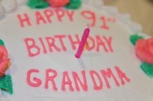 Happy 91st birthday grandma cake