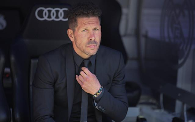 <span>Atletico Madrid manager Diego Simeone</span> <span>Credit: REUTERS </span>
