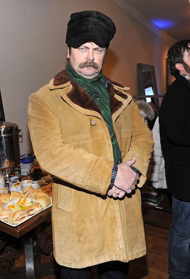 Nick Offerman is seen out and about during the 2012 Sundance Film Festival in Park City, Utah on January 22, 2012.