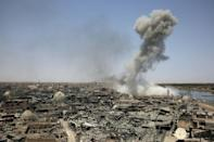 The coalition battle against Islamic State was waged mainly from the air, with Mosul shelled relentlessly