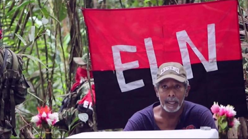 TV grab from Colombia's RCN Channel shows the National Liberation Army (ELN) hostage, ex-lawmaker Odin Sanchez, in 2016