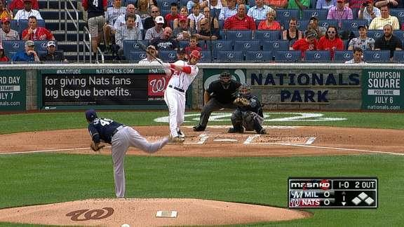 Bryce Harper homers in his first at-bat back from disabled list