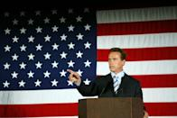 <p>For the majority of his career, Arnold Schwarzenegger was known for starring in actions movies and showing off his award-winning physique. It wasn't until 2003 that the public learned of his political ambitions. He beat out former Governor of California, Gray Davis, in 2003 and served until 2011.</p>