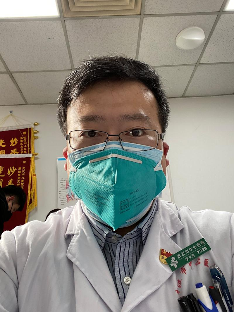 An undated handout photo shows Dr. Li Wenliang, who issued a warning about the coronavirus - and was then summoned for a middle-of-the-night reprimand over his candor. (Handout via The New York Times)