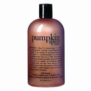 Philosophy makes pumpkin-spiced shampoo, shower gel and bubble bath, so you can literally bathe in the stuff.