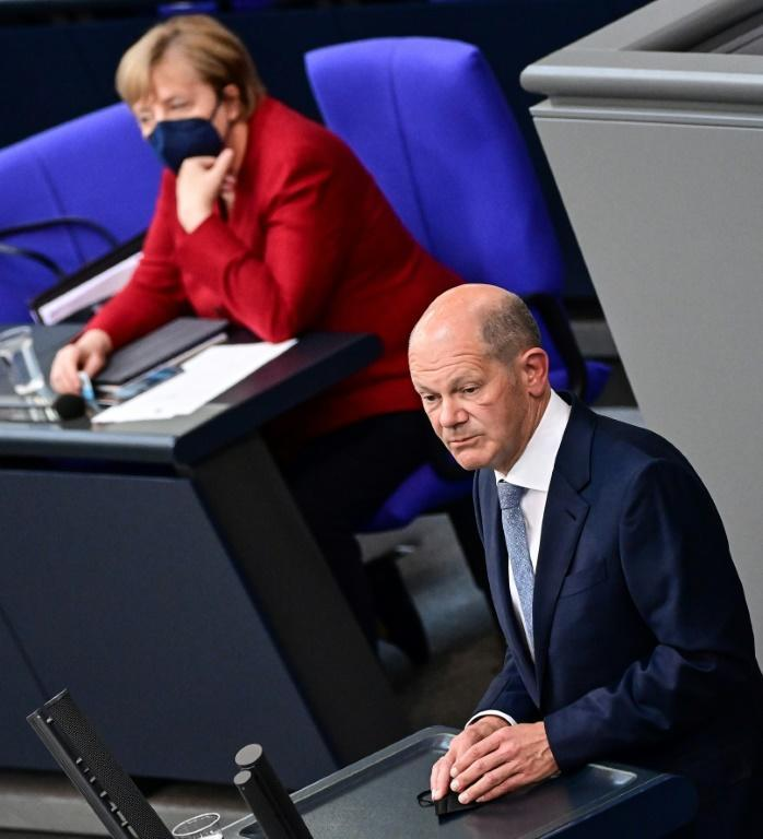 Finance Minister and the Social Democrats candidate for Chancellor Olaf Scholz is winning plaudits and remaining above the fray
