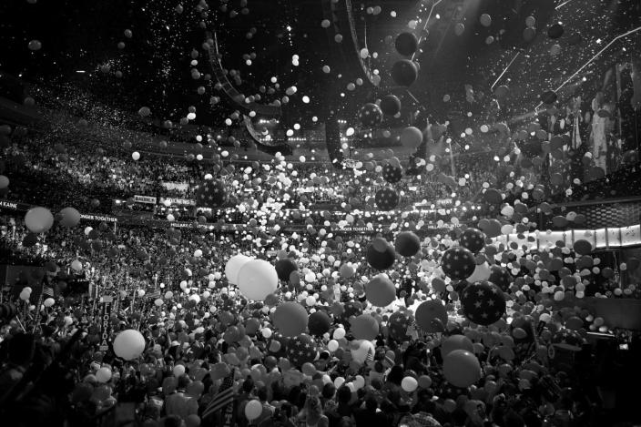 <p>Balloons fall at the Democratic National Convention Thursday, July 28, 2016, in Philadelphia, PA. (Photo: Khue Bui for Yahoo News)<br></p>