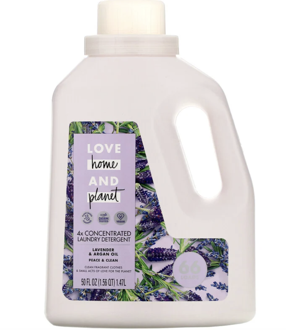 Love Home & Planet, 4x Concentrated Laundry Detergent, Lavender & Argan Oil. PHOTO: iHerb