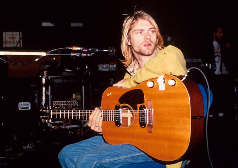 Nirvana front Kurt Cobain's death brought greater attention to the 27 Club phenomenon. (Kevin Mazur/WireImage)