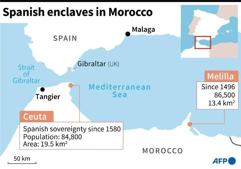 Ceuta, along with Spain's other north African enclave, have the European Union's only land border with Africa