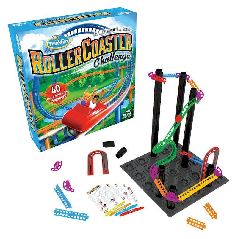 "This <a href=""https://www.amazon.com/Roller-Coaster-Challenge-Logic-Building/dp/B071KT3MSN"" target=""_blank"">combination game</a> of both critical and logical thinking is perfect for the 5+ year old in your life."