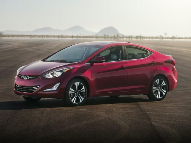 Wine red hyundai elantra
