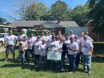 Fort Lee Family Housing employees volunteer with Rebuilding Together RIchmond. The annual Helping Hands event is held in over 40 locations where Hunt Military Communities are located.