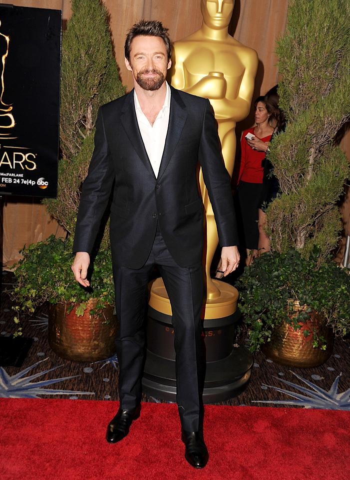 Hugh Jackman attends the 85th Academy Awards Nominees Luncheon at The Beverly Hilton Hotel on February 4, 2013 in Beverly Hills, California.  (Photo by Steve Granitz/WireImage)