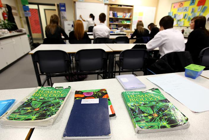 High school students attend classes.  (Getty Images)