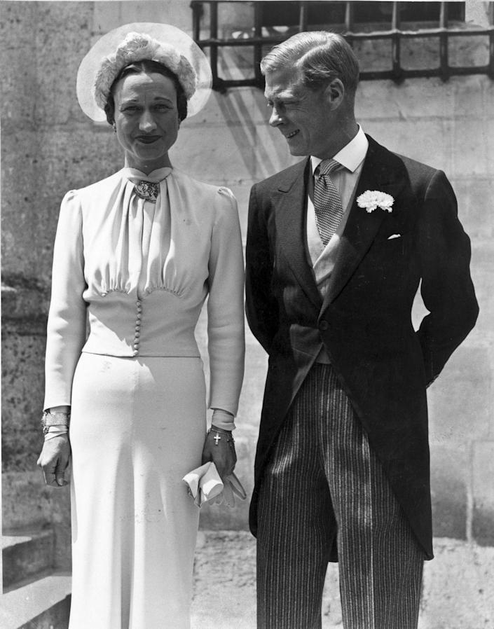 <p>The Prince of Wales had to consider a lot more than just what ring to propose with when he decided to marry Wallis Simpson in 1936, as he was forced to abdicate the throne first. He did just that, becoming the Duke of York and marrying Simpson in France in 1937. </p>