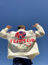 """<p>He added, """"On the back I went for a classic @teamgb logo, the shoulders have a flag and GBR on them. For the front I wanted to keep it simple and I tried my best to embroider TOKYO in Japanese! 🇯🇵🔥""""</p>"""