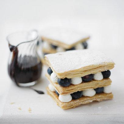 Lorraine Pascale's Lemon and Blueberry Mille Feuille: Recipe