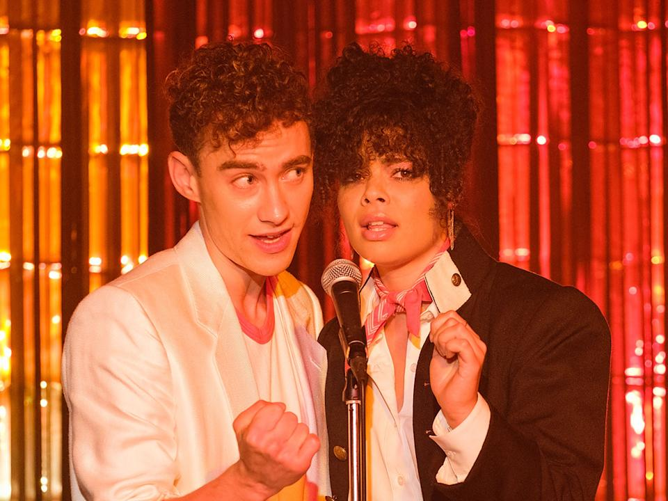 Ritchie (Olly Alexander) and Jill (Lydia West) in 'It's a Sin'Channel 4