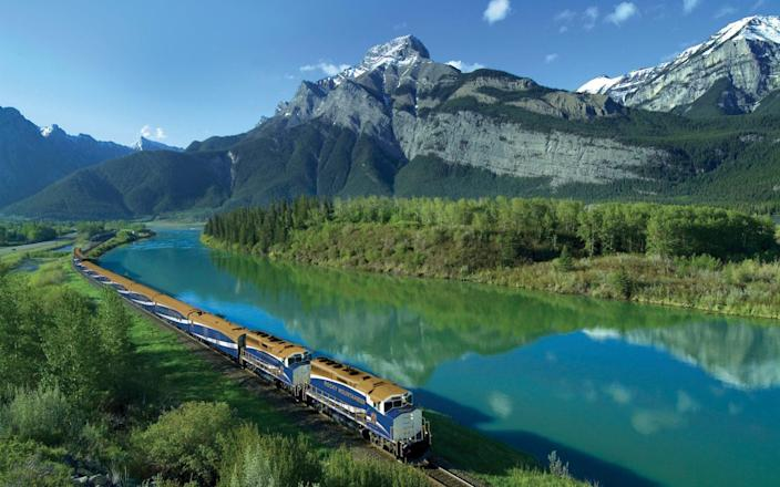 The Rocky Mountaineer is famed for its Canadian route - rocky mountaineer