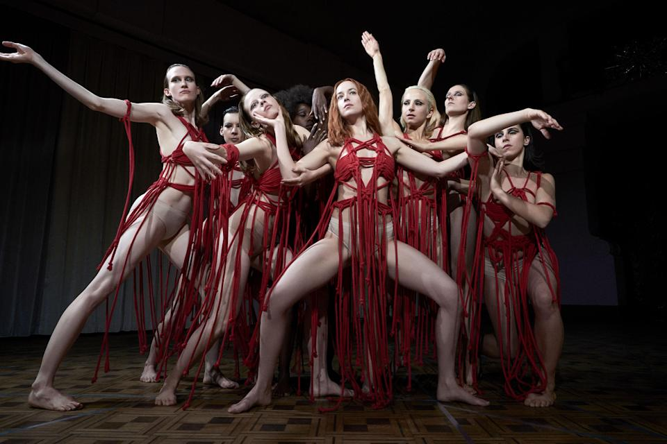 """<p>On the surface you might think <em>Suspiria</em> is another dark ballet tale in the vein of <em>Black Swan.</em> And while the two movies do share similar elements—a young ingenue entering the cutthroat world of dance—this film starring Dakota Johnson and Mia Goth contains a hell of a lot more gore. And witches! </p> <p><a href=""""https://www.amazon.com/Suspiria-Dakota-Johnson/dp/B07H9KG2PB"""" rel=""""nofollow noopener"""" target=""""_blank"""" data-ylk=""""slk:Available to stream on Amazon Prime Video"""" class=""""link rapid-noclick-resp""""><em>Available to stream on Amazon Prime Video</em></a></p>"""